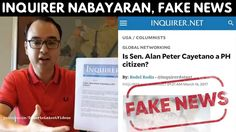 """CAYETANO SLAMS INQUIRER, DEFENDS DUTERTE vs IMPEACHMENT 'At what price One sided news, malicious' - WATCH VIDEO HERE -> http://dutertenewstoday.com/cayetano-slams-inquirer-defends-duterte-vs-impeachment-at-what-price-one-sided-news-malicious/   ayetano protested that the Inquirer had not even got his side before putting out the opinion piece. And so declared Sen. Alan Peter Cayetano on Thursday as he slammed as """"hatchet job, defamation and fake news"""" an Inquirer.net colu"""