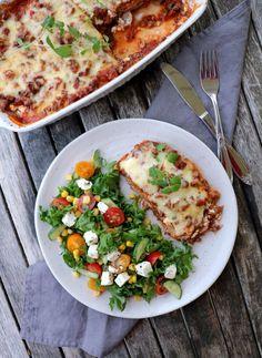 Slik lager du heimelaga lasagne med lomper - LOMPELASAGNE! - LINDASTUHAUG Vegetable Pizza, Risotto, Nom Nom, Healthy Living, Stuffed Peppers, Dinner, Ethnic Recipes, Food, Tips