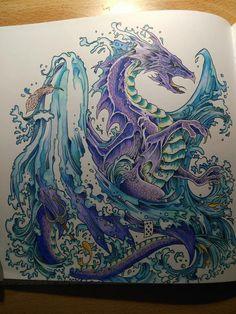 Purple dragon from Mythomorphia
