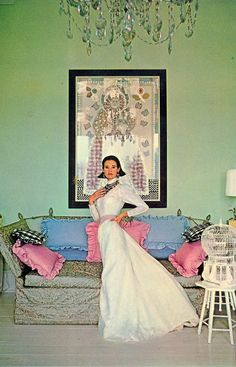 Gloria Vanderbilt at home circa 1971