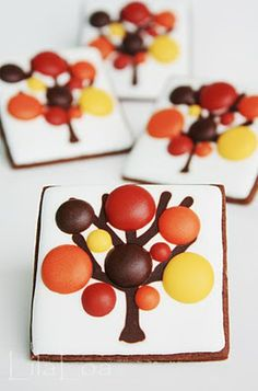 fall tree cookies