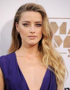 Amber Heard's swept-over hair