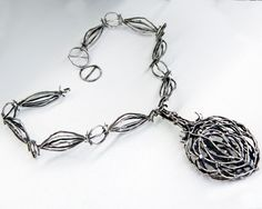 Necklace | Earl Pardon. Silver.  c. late 1960s | Collection of Aaron Faber Gallery; Photo/Murray Riss