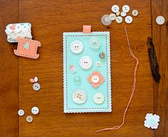 Keepsake Button Card by Rebecca Luminarias for Papertrey Ink (February 2015)