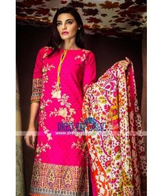 Printed Dresses Online Khaadi Embroidered Cambric 2015 Pakistani Clothes Online, Pakistani Outfits, Lawn Fabric, Lawn Suits, Desi Clothes, Fall Collections, Dress Suits, Famous Brands, Cotton Dresses