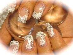 glitter nail art #wedding #bride #nails - If you like these nails follow my board 'nails adorned'