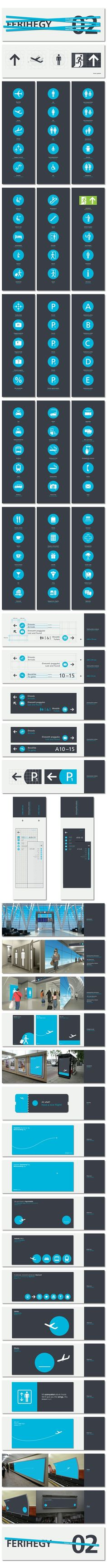 WAYFINDING SYSTEM, AIRPORT, BUD Terminal2 Signage, by Kiss Miklos