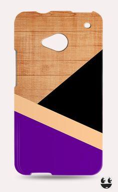 HTC One Phone Case, HTC One Case Purple & Black