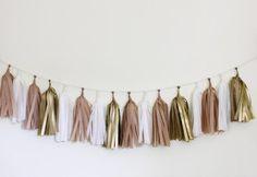 (OUT OF STOCK) Tissue Paper Tassel Garland Kit - Golden