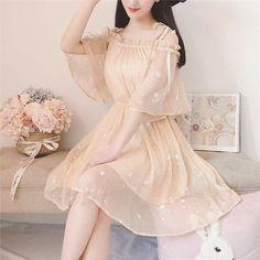 Korean Fashion Dress, Ulzzang Fashion, Asian Fashion, Fashion Dresses, Pretty Outfits, Pretty Dresses, Stylish Outfits, Beautiful Dresses, Set Fashion