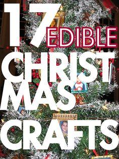 17 edible Christmas/ winter crafts!