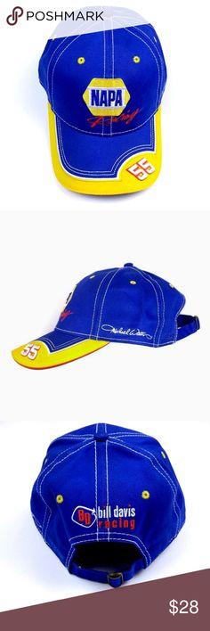15207c0c99a NWOT Michael Waltrip Napa Racing Nascar Cap Hat NWOT Michael Waltrip 55 Hat  Napa Racing Nascar Cap Blue Yellow Bill Davis Racing New with cardboard  insert ...