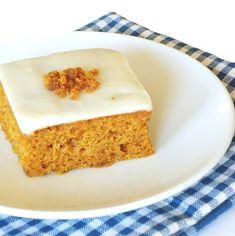Orange Pumpkin Sheet Cake...from the kitchen of One Perfect Bite courtesy of Pillsbury Test Kitchens