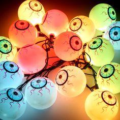 Halloween Theme Party String Light Terror Eyeball Strand Lattern Flashlight Christmas Festival Decoration