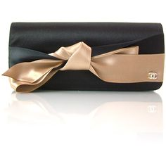 CHANEL Silk Satin Bow Clutch: bd19051 Fashionphile - Buy, Sell,... ❤ liked on Polyvore featuring bags, handbags, clutches, chanel, bolsas, borse, black purse, bow purse, black handbags and bow handbag