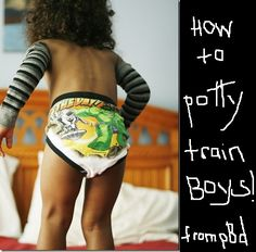 How to potty train boys