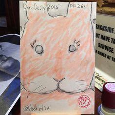 Staring bun 2015-09-23 09:58pm DD265 #atlsketchsociety #getsketchy24 #drawdaily2015 #staring