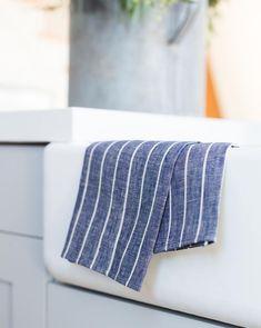 e96f89f1b8 Wide Stripe Hand Towel (Set of 2) - Blue