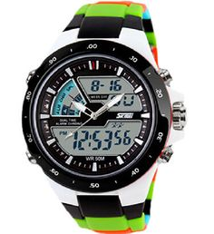 Watches Fanala Multifunctional Watch Led Digital Dial Quartz Wristwatch Waterproof Student Sport Watch For Teenagers Red Green Blue Durable In Use