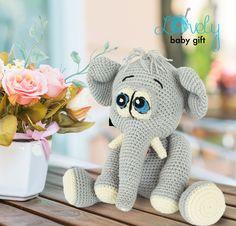 Amigurumi Elephant Crochet Pattern, Amigurumi Pattern, Amigurumi Crochet Elephant