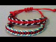 Pulsera Kumihimo Hira Kara Flat Braid 8 strands (5 ) - YouTube
