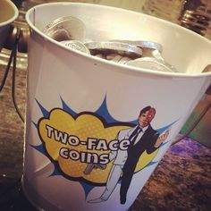 Two-Face Coins. Chocolate coins. Batman and Villains superhero themed birthday party.