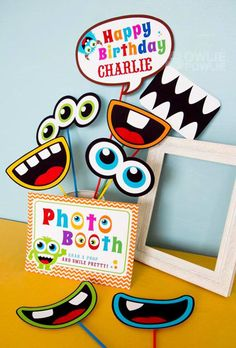 Idea para fiesta de monstruos colorida   -   Colorful Monster Party idea via KarasPartyIdeas.com
