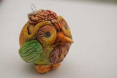 Batwrangler - polymer clay ornament