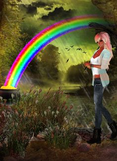 """""""Be Colorful Like A Rainbow"""" Virtual Games, Born To Die, On The Bright Side, Imvu, Video Games, Angels, Projects To Try, Places To Visit, Rainbow"""