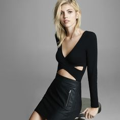 Switch it up this NYE with a bodysuit and skirt instead of the classic LBD.