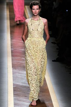 valentino embroidered halter dress