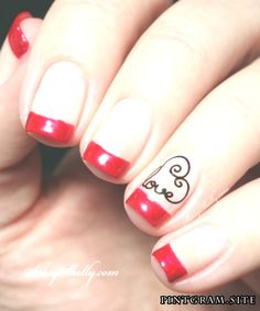 Red french pedicure valentine nails new Ideas French Pedicure, French Manicure Nails, French Tip Nails, French Polish, Prom Nails, Wedding Nails, Fun Nails, Aloe Vera, Body Peeling