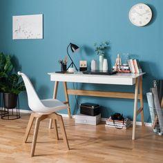 Schreibtisch Branno - Eiche teilmassiv | home24