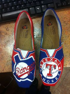 SOLD TEXAS RANGERS shoes but can make by by CustomTOMSbyJENN, $120.00