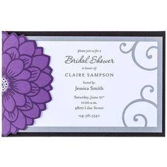 Purple Flower Wedding Invitations