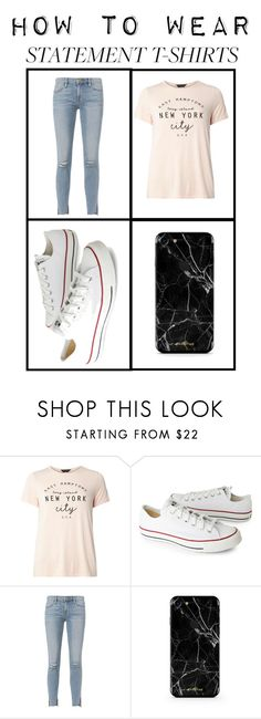 """""""Casual; Statement shirts"""" by the-crazy-dog-lover ❤ liked on Polyvore featuring Dorothy Perkins, Converse and Frame"""