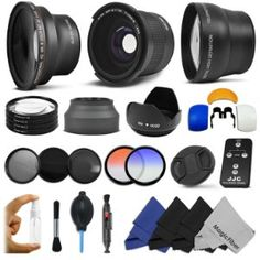 Essential Lens and Filter Kit for 58MM CANON REBEL and EOS Series Cameras including T3i T2i T1i XT XTi XSi 60D 7D - Includes: Professional .35x Super Wide Fisheye Lens + 0.43x Wide Angle Lens + 2.2x Telephoto Lens + Wireless Remote Control + Macro Close-Up Set + Hard Tulip Lens Hood + http://www.amazon.com/gp/product/B0057CPD1M/ref=as_li_ss_tl?ie=UTF8=1789=390957=B0057CPD1M=as2=clooffresam-20