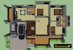 แบบบ้านชั้นเดียวยกพื้น ทรงไทยประยุกต์ 3 ห้องนอน 3 ห้องน้ำ พื้นที่ใช้สอยประมาณ 150 ตร.ม | DoIDEA ดูไอเดียบ้าน Thai House, House Plans, Floor Plans, House Floor Plans, Floor Plan Drawing, Home Plans