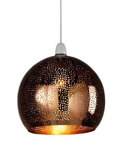 Etched Metal Pendant Ceiling Lamp Shade   M&S