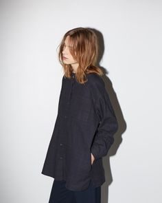/lagarconne moderne/ windowpane shirt, vintage wide leg pant