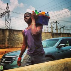 Love how you can buy anything you want during traffic jams in Nigeria!