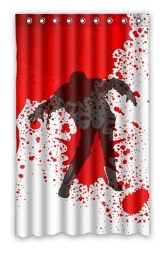 Undead Dead Walking Zombie Bloody Shower Curtain Halloween Decor At Its Finest