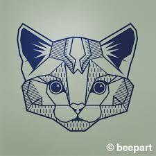 ผลการค้นหารูปภาพสำหรับ geometric cat