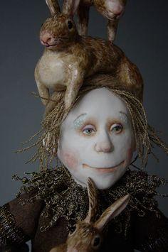 Marlaine Verhelst    Taking care of rabbits - detail
