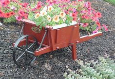 Amish Old-fashioned Wheelbarrow - Mini Rustic