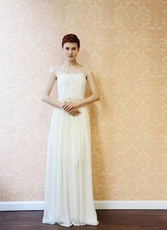 Clothilde2 Piece Lace and Silk Wedding Dress by Leanimal on Etsy