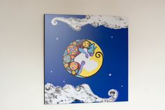 Limited Edition Celtic Moon Cat wall hanging by WEatonMedievalArts on Etsy Moon Print, Cat Wall, Craft Items, Stars And Moon, Your Design, Celtic, Invitations, Wall Art, Cats