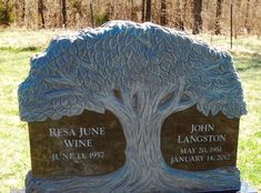 Monuments and Headstones - photos of custom monuments and headstones by West Memorials
