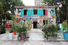 The Hottest New Cafés in Paris via Le Pavillon des Canaux Paris Travel, France Travel, Coffee Shops, Resto Paris, Paris Bars, Love Cafe, Graffiti, Epic Party, Café Bar