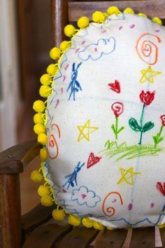 kid art Easter egg pillows DIY